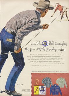 1950s Blue Bell Wranglers Jeans