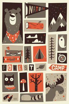 The Great Outdoors  © Greg Abbott Kaikille sama aihepiiri + smanväriset paperit