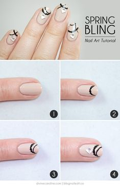 Spring Bling Nail Art: Jewelry for Your Fingers for Divine Caroline