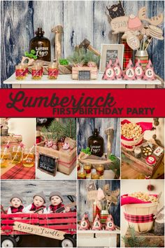 A Little Lumberjack 1st Birthday Party - Spaceships and Laser Beams