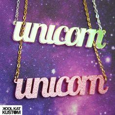 Unicorn Necklace by #koolkatkustom ! Du bist in Wirklichkeit ein Einhorn? Dann zeig es mit dieser Kette!