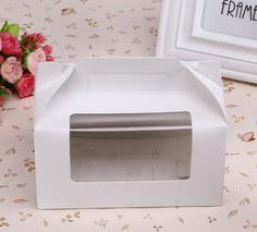 Find More Packaging Boxes Information about 30pcs 16.5*9.2*8.7cm Packaging White cardboard Paper Muffin window Box with Handle For Candy\Cake\Dessert \party Packing boxes,High Quality paper puzzle box,China paper bin boxes Suppliers, Cheap paper building from Fashion MY life on Aliexpress.com