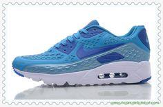 chuteiras barata Azul Branco Nike Air Max 90 Ultra BR 725222-430 Masculino-Mulheres