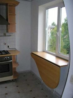 Картинки по запросу складной стол подоконник кухня