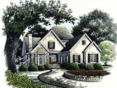 Eplans French Country House Plan - Countryside Living - 2424 Square Feet and 3 Bedrooms from Eplans - House Plan Code HWEPL02519