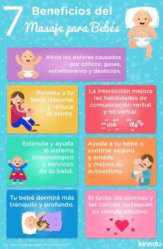 ¡7 beneficios del masaje para bebés!