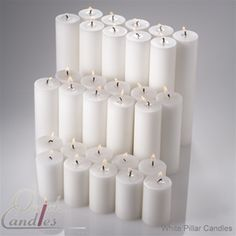 come here for your candles, www.quickcandles.com choose by color, scent, size, type, with/without glass, etc. All at a discounted bulk rate!