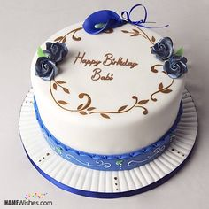 The Name Priya Is Generated On Romantic Birthday Cake For