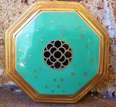 Art Deco Richard Hudnut cloisonne vanity compact 1928