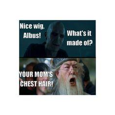 Voldemort and Dumbledore.. at it again.. hahaha