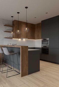 Luxury Kitchen Design, Interior Design Kitchen, Interior Ideas, Kitchen Designs, Bathroom Interior, Minimalist Kitchen, Minimalist Living, Modern Living, Modern Minimalist