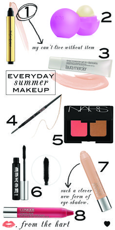 everyday summer makeup.