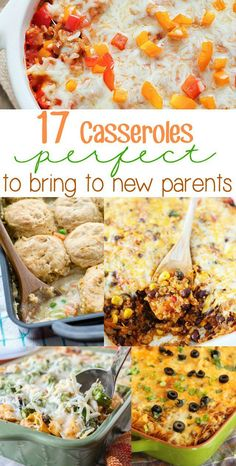 17 Easy Casseroles to Bring to New Parents in crockpot meals to make tortillas amish bread bread recipes Freezable Dinners, Freezable Casseroles, Healthy Freezer Meals, Best Casseroles, Make Ahead Meals, Easy Meals, Freezer Cooking, Best Meals To Freeze, Budget Freezer Meals