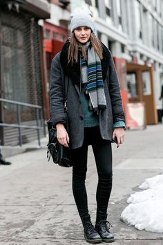 Model street style at NYFW makes for a dreamy weekend ensemble.