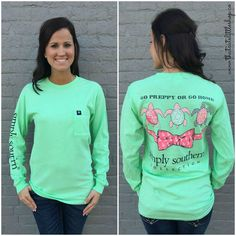 Go Preppy or Go Home! New Simply Southern Long Sleeve tee!