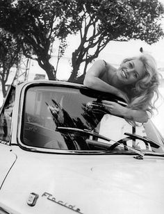 The French actress Brigitte BARDOT posing from within her convertible car, in France. Get premium, high resolution news photos at Getty Images Bridgitte Bardot, Jeanne Moreau, Rita Hayworth, Mia Farrow, Classic Hollywood, Old Hollywood, Hollywood Fashion, Hollywood Actresses, And God Created Woman