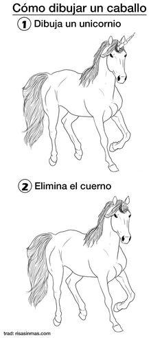 Cómo dibujar un caballo