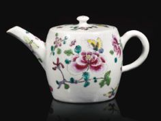 A BOW SMALL TEAPOT AND COVER, CIRCA 1755-56