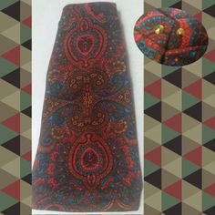 Perfectly Paisley! Turquoise, Orange, Red, Teal, and Gold! Sphynx cat sweater! This is a beautiful medium weight knit with hand stud details in the collar!