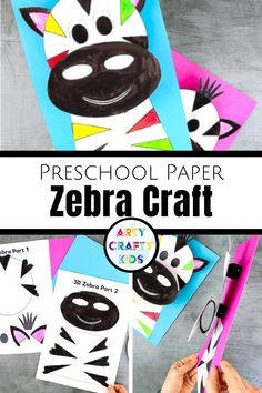 Looking for printable preschool zebra crafts for kids to make? These easy preschool zebra crafts are fun + simple for children to make with our printable craft templates! Get the printables + videos + instructions for these easy zebra crafts for preschoolers here! Zebra Crafts Preschool Zoo Animals | Safari Animal Crafts for Kids | 3D Zebra Crafts for Kids | Paper Zebra Crafts for Kids | Safari Animal Crafts Preschool | Zoo Animal Crafts Preschool | Zoo Animal Crafts for Preschoolers… Paper Animal Crafts, Safari Animal Crafts, Animal Crafts For Kids, Paper Animals, Crafts For Kids To Make, Zoo Animals, Animals For Kids, Printable Crafts, Printables