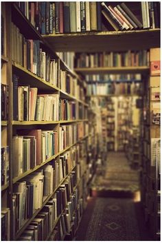 One of my favorite places to be. Actually I saw a bookstore in Downtown Seattle that looked JUST like this. Literally. Wonder if it is the same place?