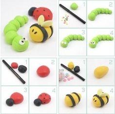 Biene-Raupe-Juni käfer