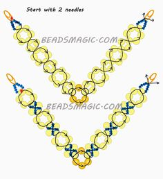 Free pattern for beaded necklace Classic | Beads Magic - 2. U need Seed beads 11/0 and Pearl beads 6 mm.