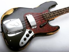 A Fender Custom Shop Heavy Relic '64 Jazz Bass. #bassgram #instabass #bassporn #bassplayer #bassplayermag