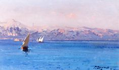 Fausto Zonaro - The Aegean Coast (1904)