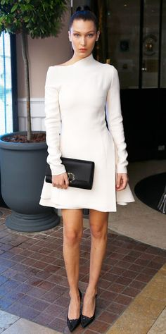 Just a pretty style | Latest fashion trends: Model look | Asymmetrical white dress