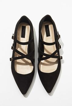 Faux Suede Strappy Flats | $24.90