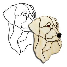 Easy Stained Glass Patterns   Labrador Dog Obsession Pattern - Animals - Obsession Art Glass