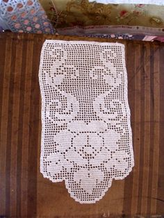 Vintage Crochet Piece Table Topper Doily by SweetRepeatVintage, $10.95