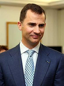 Felipe, Prince of Asturias (Born 1968). Son of Juan Carlos I and Sophia of Greece and Denmark. He is married to Letizia, Princess of Asturias, and has two daughters.