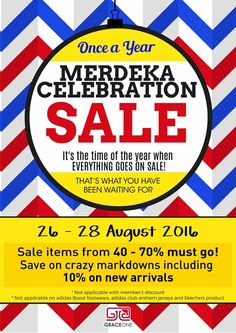 26-28 Aug 2016: Grace One Merdeka Sale
