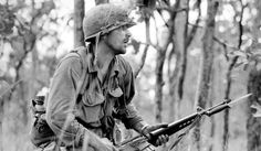 Rick Rescorla during the Battle of Ia Drang Valley, Vietnam. Rescorla survived Vietnam and was killed on 9/11 at the WTC in NYC, having led hundreds of people to safety, when he continued his search for survivors when the Towers collapsed.