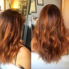 Newport Beach Hair Stylist Copper Red Rust Balayage Highlights by Emily Cain - EmilyAnnCain