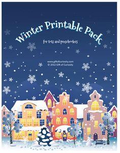 Educational Freebie: Winter Printable Pack for Tots and Preschoolers
