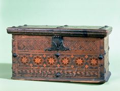 A box from South Tyrol, c. 1450-1500 Inlaid Wooden box/casket