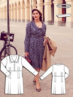 Timeless Romance: 9 New Plus Size Patterns – Sewing Blog | BurdaStyle.com - Love the black dress with the tucked bodice!!