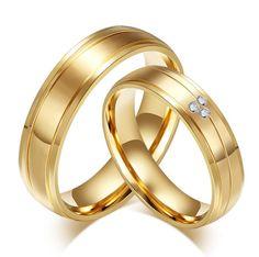 His and Hers Diamond Yellow Gold dual wedding bands. www.allthingsluxury.biz