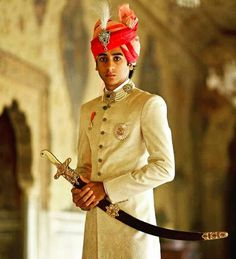 HIS HIGHNESS MAHARAJA PADMANABH SINGH JI OF #JAIPUR Indian Groom Wear, Indian Wear, Jaipur, Rajasthani Bride, Wedding Couple Photos, Rajputi Dress, Wedding Dress Men, Wedding Sherwani, Groom Outfit