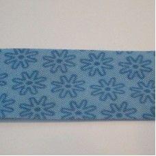 Oaki Doki Biaislint Donker blauw met kleine bloem - 20 mm