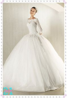 beautiful tulle & lace gown