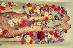 flower bath...flowers