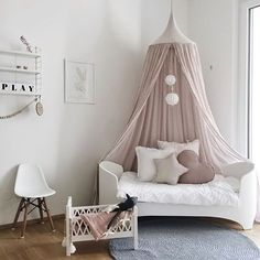 """2,622 Likes, 16 Comments - Scandinavian Homewares (@istome_store) on Instagram: """"Happy new week! How pretty is this little girl's room by @bllhome 👈🏻 Cam Cam doll bed is available…"""""""