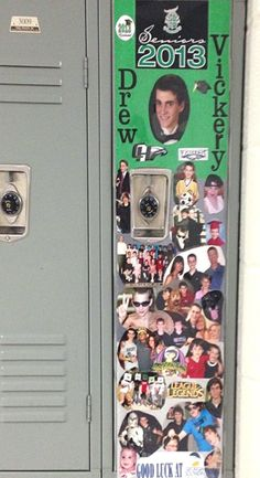Locker Decoration Ideas locker strip for senior week. | senior pictures | pinterest