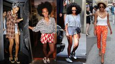 Everyone's current style crush is Solange Knowles. I admire her effortlessly, quirky take on colour and print.
