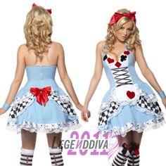 Sexy Alice in Wonderland  Halloween Plus Adult Costume