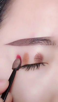 The best ideas for life Asian Eye Makeup, Eye Makeup Art, Korean Makeup, Eyebrow Makeup, Eyeshadow Makeup, Face Makeup, Makeup 101, Diy Makeup, Makeup Inspo